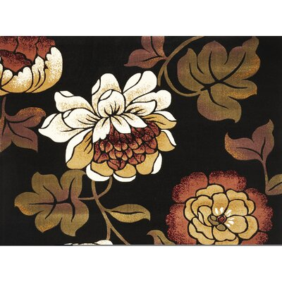 Eve Black Bella Rug Rug Size: 23 x 33