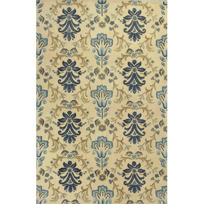 Mapletown Damask Floral Area Rug Rug Size: Rectangle 93 x 133