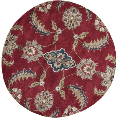 Marathon Ruby Allover Mahal Area Rug Rug Size: Rectangle 3 x 5