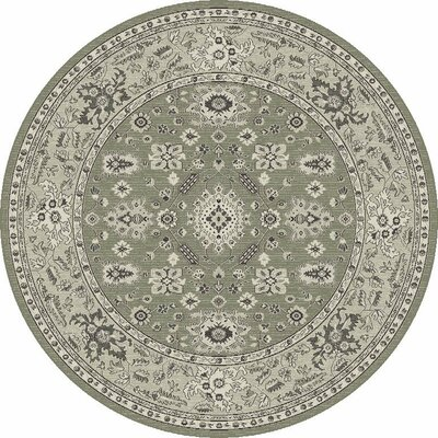 Appleridge Taupe/Gray Agra Area Rug Rug Size: Round 710