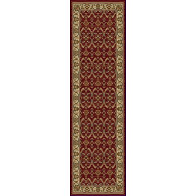 Antwerp Red/Ivory Agra Area Rug Rug Size: Runner 23 x 77