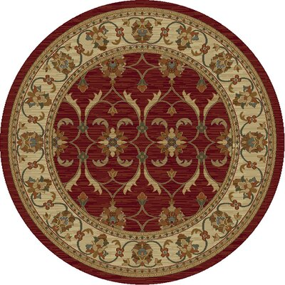 Antwerp Red/Ivory Agra Area Rug Rug Size: Rectangle 710 x 910
