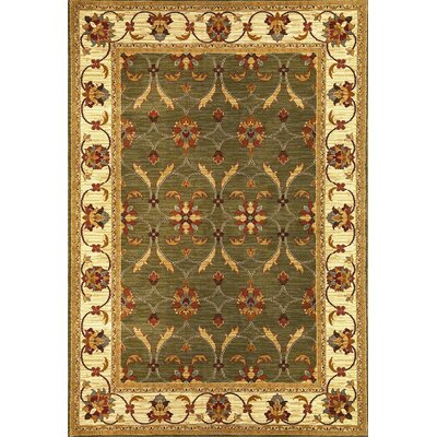 Antwerp Green/Ivory Agra Rug Rug Size: Rectangle 710 x 910