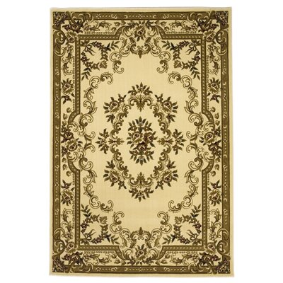 Barwin Ivory Aubusson Rug Rug Size: Rectangle 53 x 77