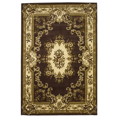 Barwin Plum/Ivory Aubusson Area Rug Rug Size: Rectangle 53 x 77