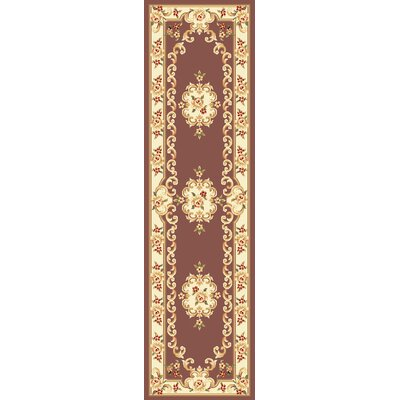 Barwin Plum/Ivory Aubusson Area Rug Rug Size: Runner 22 x 711