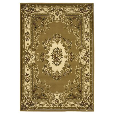 Barwin Beige/Ivory Aubusson Rug Rug Size: Rectangle 53 x 77
