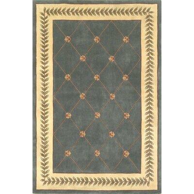 Valeriane Wedgewood/Ivory Trellis Area Rug Rug Size: 33 x 53