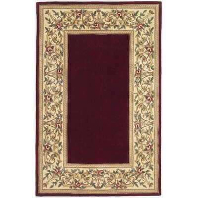 Konigstein Floral Bordered Area Rug