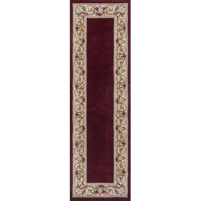 Valeriane Floral Bordered Area Rug Rug Size: Runner 23 x 76