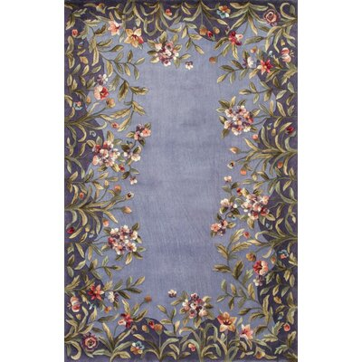 Veronique Lavender/Green Garden Area Rug Rug Size: 53 x 83
