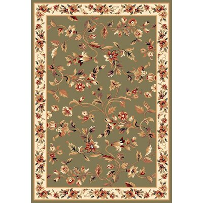 Verveine Sage & Ivory Floral Area Rug Rug Size: Rectangle 910 x 132