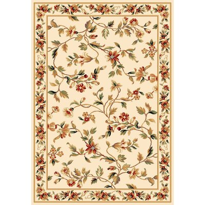 Verveine Ivory Floral Area Rug Rug Size: Rectangle 53 x 77