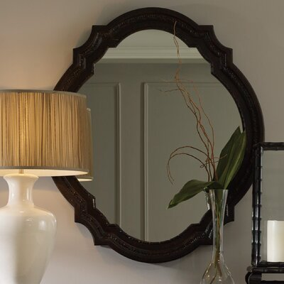 Irregular Dark Brown Accent Mirror