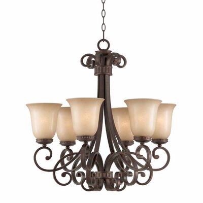 Albin 6-Light Shaded Chandelier