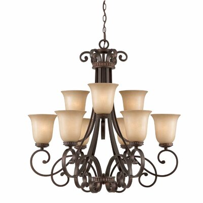 Albin 9-Light Shaded Chandelier