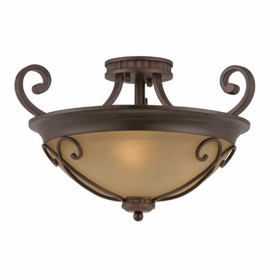 Albin 3-Light Semi Flush Mount