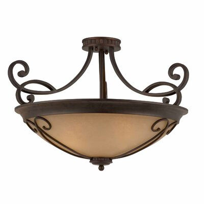 Albin 4-Light Semi Flush Mount