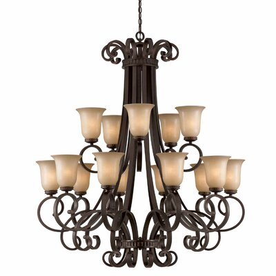 Albin 15-Light Shaded Chandelier