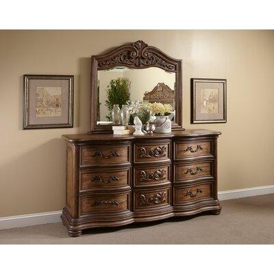 Alderwood 9 Drawer Dresser with Mirror