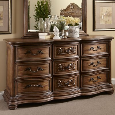 Alderwood 9 Drawer Dresser