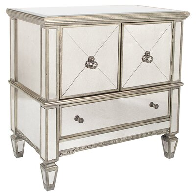 Beadling 3 Drawer Console Cabinet Finish: Silver