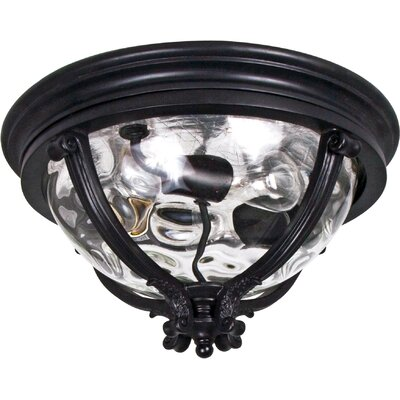 Ironstone 3-Light Flush Mount Finish: Black