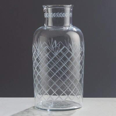 Clear Glass Handcrafted Decorative Bottle