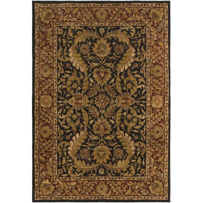 Garrison Brown & Black Area Rug Rug Size: 33 x 53