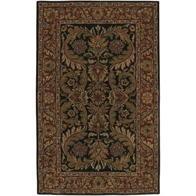 Garrison Brown & Black Area Rug Rug Size: 5 x 8