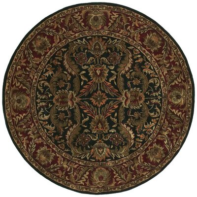 Garrison Brown & Black Area Rug Rug Size: Round 8