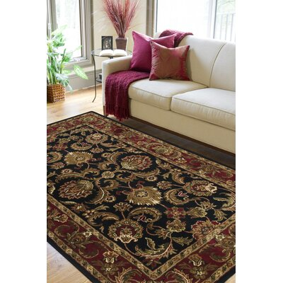 Garrison Black & Brown Area Rug Rug Size: 9 x 13