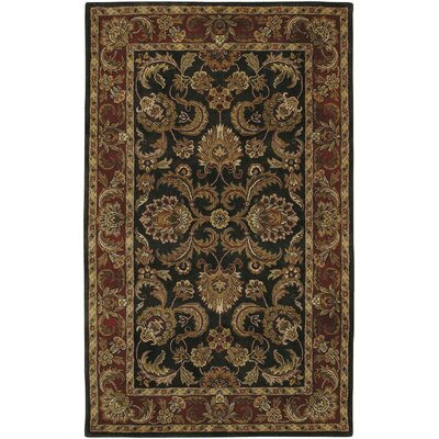 Garrison Black & Brown Area Rug Rug Size: 33 x 53