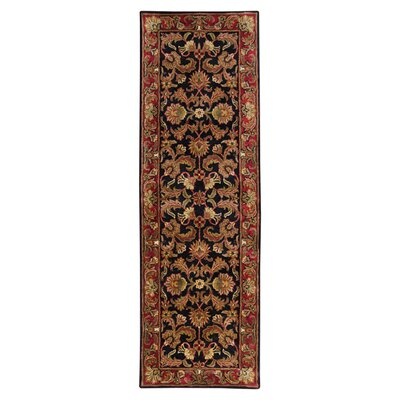 Garrison Black & Brown Area Rug Rug Size: Runner 26 x 8