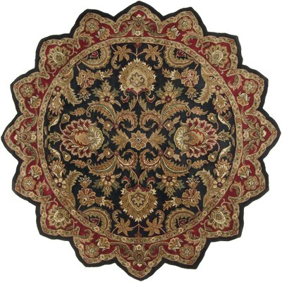 Garrison Black & Brown Area Rug Rug Size: Novelty 8 x 8