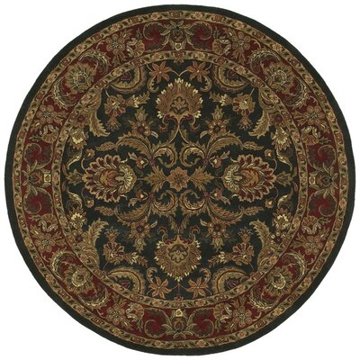 Garrison Black & Brown Area Rug Rug Size: Round 8