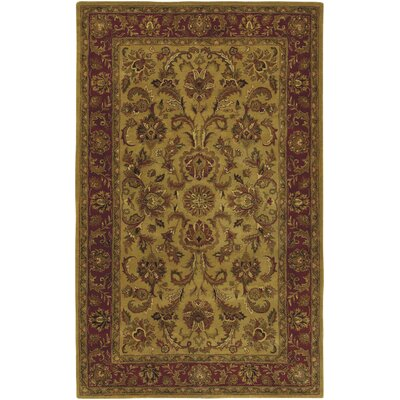 Garrison Gold/Red Area Rug Rug Size: 33 x 53