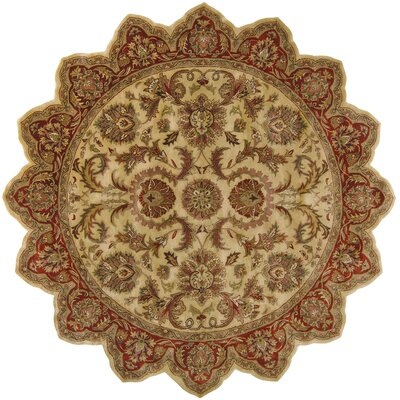 Garrison Gold/Red Area Rug Rug Size: Novelty 8 x 8