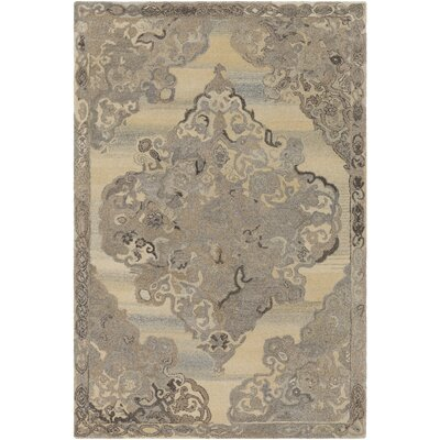 Arikara Hand-Tufted Cream/Taupe Area Rug Rug Size: Rectangle 8 x 10
