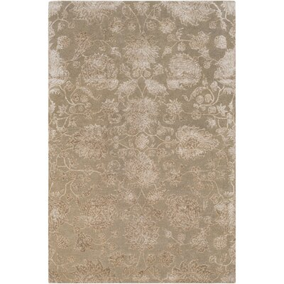 Arida Hand-Tufted Taupe/Khaki Area Rug Rug Size: Rectangle 5 x 76