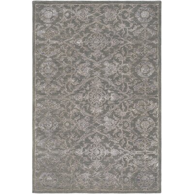Bayless Hand-Tufted Dark Green/Medium Gray Area Rug