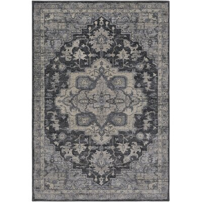 Villegas Charcoal/Cream Area Rug Rug Size: Rectangle 8 x 10