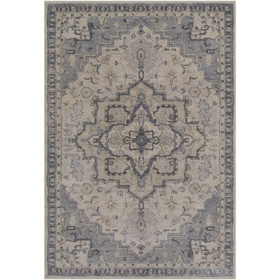 Villegas Medium Gray/Light Gray Area Rug Rug Size: 2 x 3