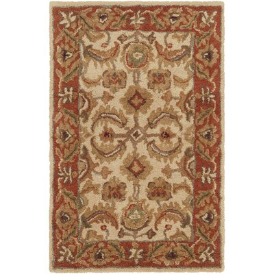 Arcadia Hand-Tufted Red/Brown Area Rug Rug Size: Rectangle 2 x 3