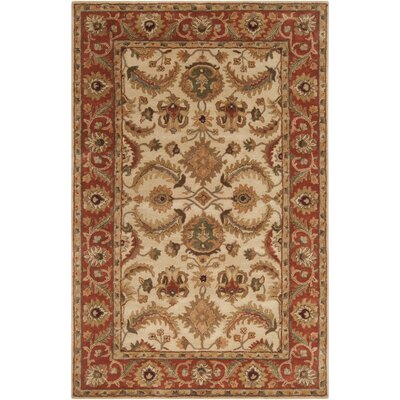 Arcadia Hand-Tufted Red/Brown Area Rug Rug Size: Rectangle 5 x 8