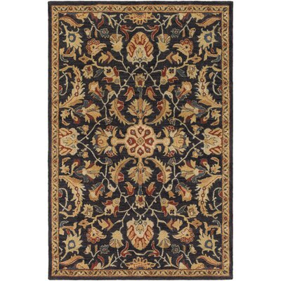 Garrison Hand-Tufted Charcoal/Mustard Area Rug Rug Size: Rectangle 5 x 8