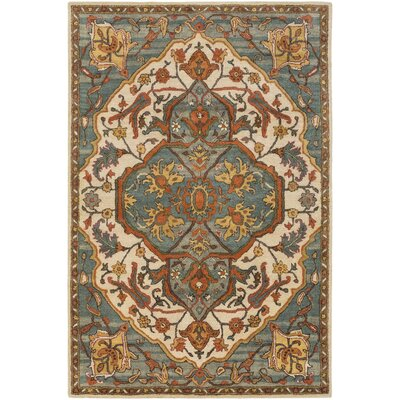 Garrison Hand-Tufted Sage/Medium Gray Area Rug Rug Size: 2 x 3