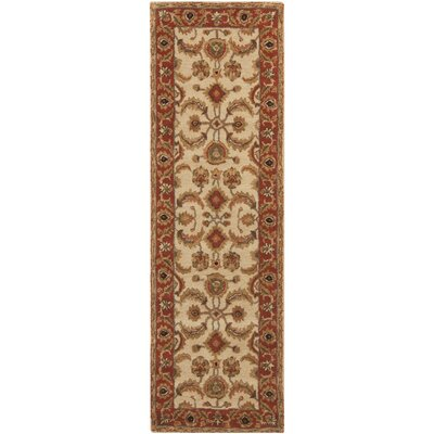 Arcadia Hand-Tufted Red/Brown Area Rug Rug Size: Runner 26 x 8
