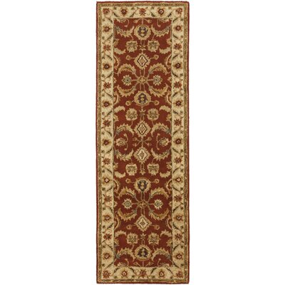 Arcadia Hand-Tufted Red Area Rug Rug Size: Runner 26 x 8