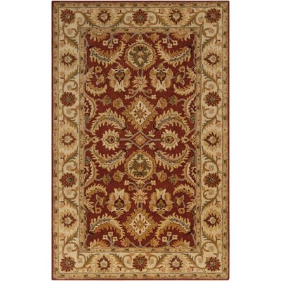 Arcadia Hand-Tufted Red Area Rug Rug Size: Rectangle 5 x 8